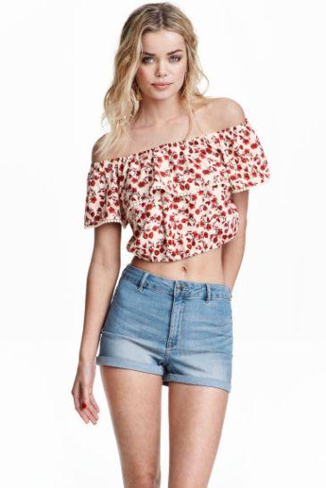 short taille haute jean