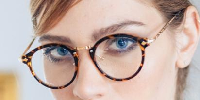 lunette reflet bleus